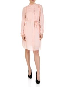 Twin-Set - Pink chemisier dress with ruffles