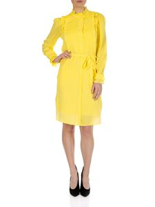 Twin-Set - Yellow chemisier dress with ruffles