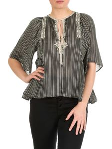 Isabel Marant Étoile - Flared Joya top with stripes