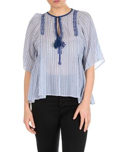 Isabel Marant Étoile - Joya flared top in light blue
