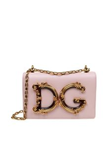 Dolce & Gabbana - Shoulder bag in pink leather with DG logo