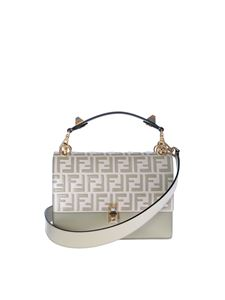 Fendi - Kan I handbag in monogram and ivory white