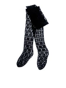 Fendi - FF motif tights in black