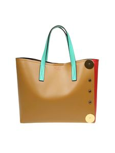 Marni - Shopping bag in tan color leather