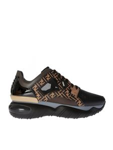 Fendi - Low top sneakers in brown and black shades