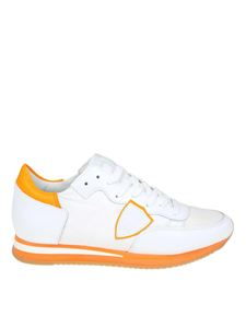 Philippe Model - Tropez sneakers in white and orange