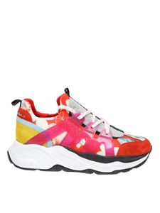 Philipp Plein - Flowers Runner red sneakers