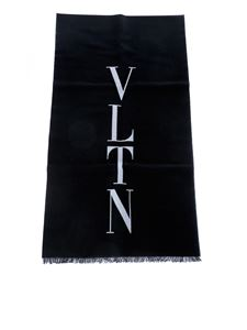 Valentino - VLTN scarf in black
