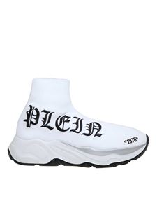 Philipp Plein - Hi Top Gothic white sneakers