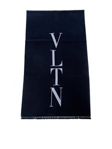 Valentino - VLTN scarf in dark blue