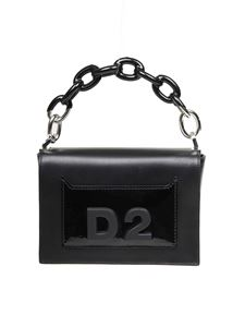 Dsquared2 - Clutch Military Punk in pelle