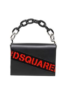 Dsquared2 - Military Punk black leather clutch