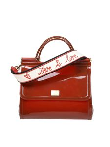 Dolce & Gabbana - Sicily handbag in red semi-transparent rubber