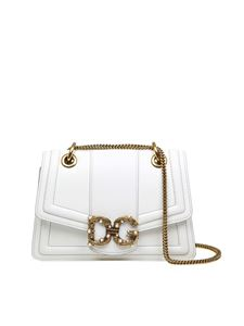 Dolce & Gabbana - Amore shoulder bag in white leather
