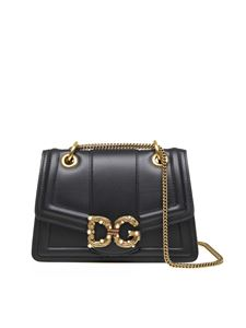 Dolce & Gabbana - Amore shoulder bag in black leather