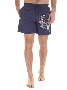 POLO Ralph Lauren - Blue embroidered swim shorts