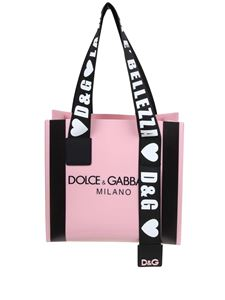 Dolce & Gabbana - Dolce & Gabbana Milano printed shopping bag in pink