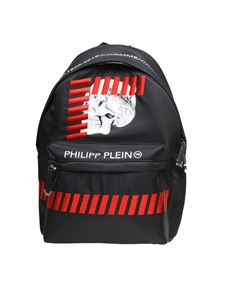 Philipp Plein - Skull black and red backpack
