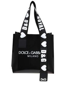 Dolce & Gabbana - Dolce & Gabbana Milano printed shopping bag in black