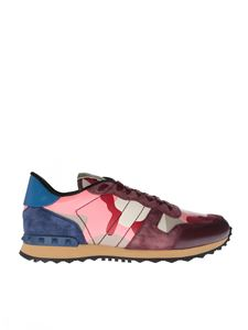Valentino - Rockrunner sneaker in camouflage red
