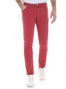 Jacob Cohën - Faded trousers in red