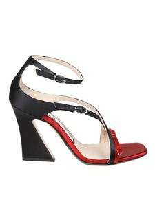N° 21 - Black and red satin sandals