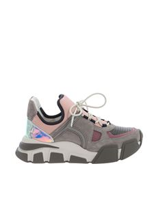 Salvatore Ferragamo - Grey and pink Cimbra sneakers