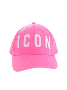 Dsquared2 - Cappello Icon rosa fluo