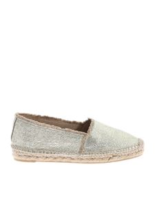 Castaner - Kito laminated espadrilles in golden