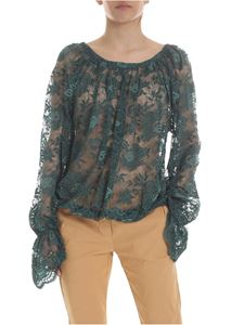 Vivienne Westwood  - Bella blouse in green floral lace