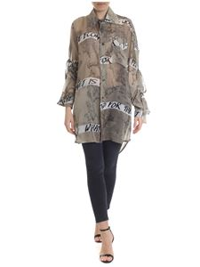 Vivienne Westwood  - Chinese Drawing maxi shirt in beige