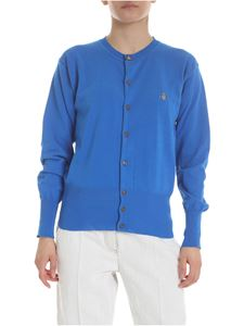Vivienne Westwood  - Blue cotton knitted cardigan