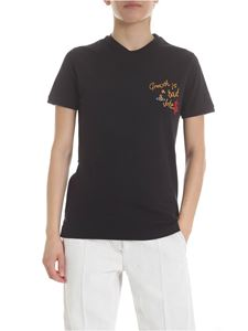 Vivienne Westwood  - Black embroidered t-shirt