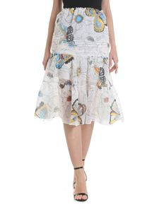 See by Chloé - White skirt with floral pattern