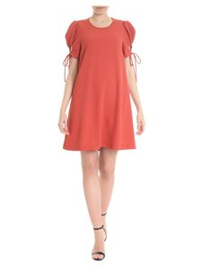 See by Chloé - Red dress with puffed sleeves