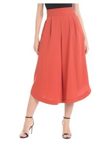 See by Chloé - Gonna pantalone rossa in crepe