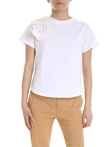 See by Chloé - White T-shirt with applied butterflies