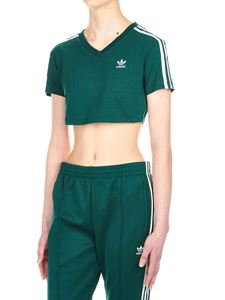 Adidas - Adidas Originals T-shirt crop in jersey verde