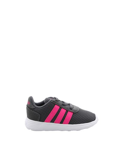 Adidas - Lite Racer Inf sneakers in grey and fuchsia