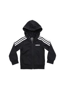 Adidas - Black sweatshirt with white 3 stripes logo