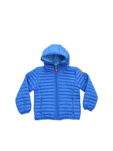 Save the duck - Electric blue hooded down jacket