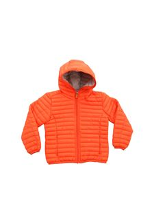 Save the duck - Orange hooded down jacket