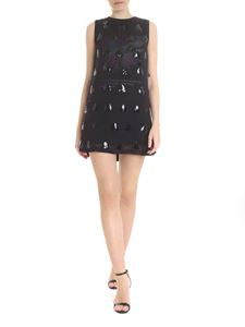 McQ Alexander Mcqueen - Decorated minidress in black