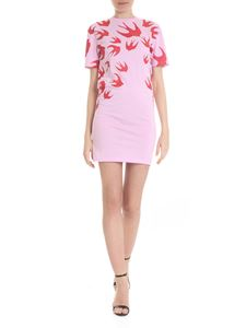 McQ Alexander Mcqueen - Signature Swallow T-Shirt Dress in pink