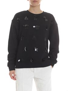 McQ Alexander Mcqueen - Decorated sweatshirt in black