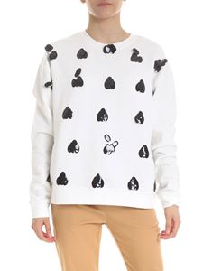 McQ Alexander Mcqueen - Decorated sweatshirt in withe
