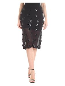 McQ Alexander Mcqueen - Semitransparent decorated skirtin black