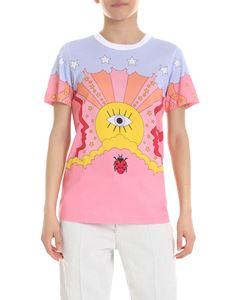 Vivetta - Pink t-shirt with multicolor print