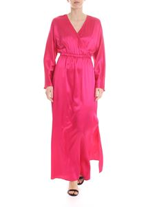Federica Tosi - Long dress in fuchsia silk with V-neck