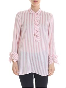 Her Shirt - Alfreda shirt with white and pink stripes